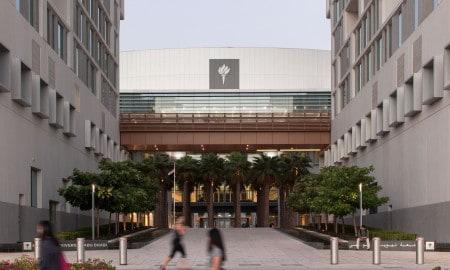 ABU DHABI, UNITED ARAB EMIRATES, November 10, 2015: A view of an exterior of the New York University Abu Dhabi campus on Saadiyat Island in Abu Dhabi.   (Photo / Silvia Razgova - Philip Cheung)