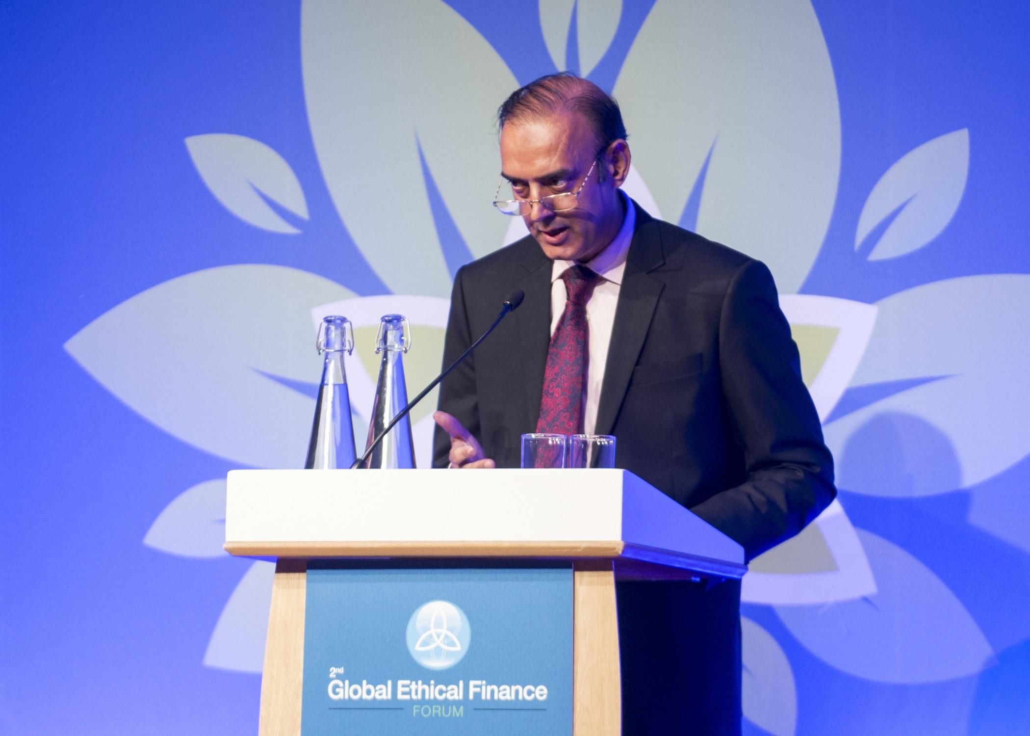 Global Ethical Finance Forum. Edinburgh, Midlothian, UK, 14, September, 2017 Credit: Ian Jacobs Pic shows: Jameel Ahmad, Deputy Governor, State Bank of Pakistan (SBP).