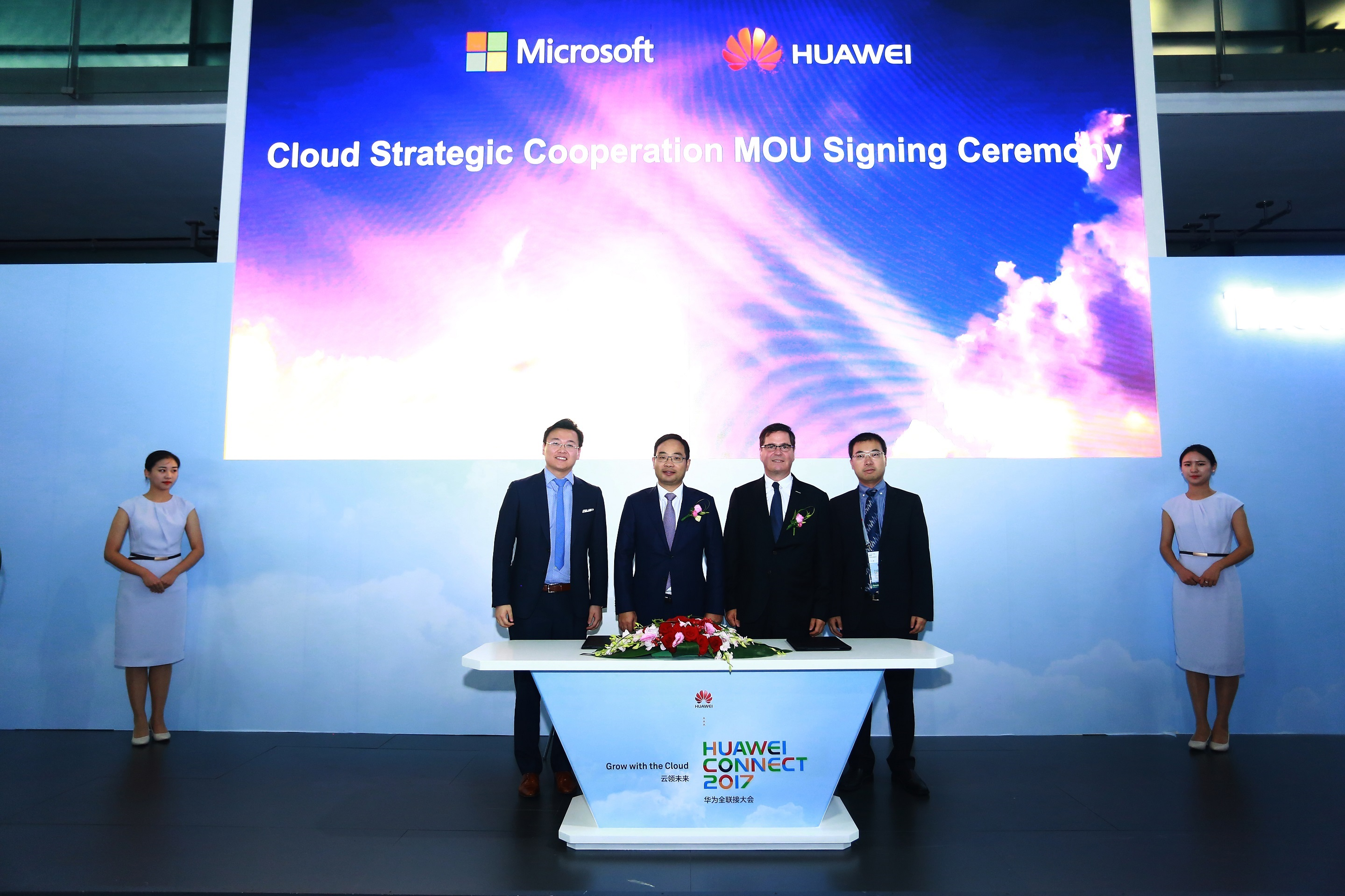 Huawei and Microsoft sign MoU at Huawei Connect_small